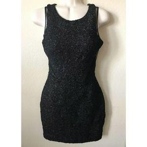 Hailey Logan Mesh Cutout Sleeveless Texture Dress